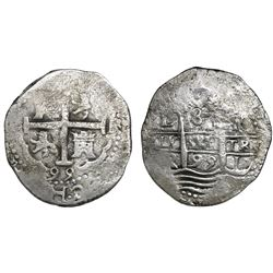 Lima, Peru, cob 8 reales, 1695R.