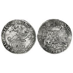 """Gelderland, United Netherlands, """"rider"""" ducatoon, 1664."""