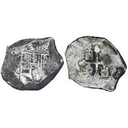 Mexico City, Mexico, cob 8 reales, (170)9J, rare.