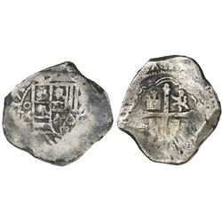 Mexico City, Mexico, cob 8 reales, 1712(?)J.