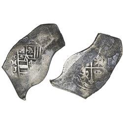 Mexico City, Mexico, cob 8 reales, Philip V, assayer J (pre-1714 style).
