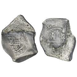 Mexico City, Mexico, cob 8 reales, (1714J), new-style obverse.