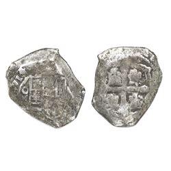 Mexico City, Mexico, cob 4 reales, (1)714/3(J), rare.