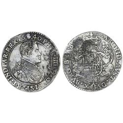 Brabant, Spanish Netherlands (Antwerp mint), portrait ducatoon, Philip IV, 1640.