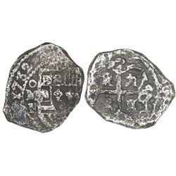 Mexico City, Mexico, cob 4 reales, 1732F.