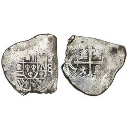 Mexico City, Mexico, cob 8 reales, Philip V, assayer not visible.