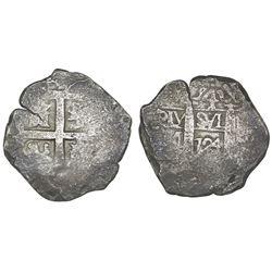 Lima, Peru, cob 4 reales, 1724M.