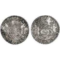 Mexico City, Mexico, pillar 8 reales, Philip V, 1740MF.
