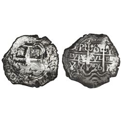 Potosi, Bolivia, cob 8 reales, 1726Y, Louis I.