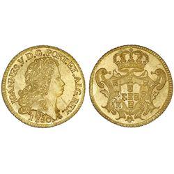 Brazil (Rio mint), gold 6400 reis, Joao V, 1750-R.