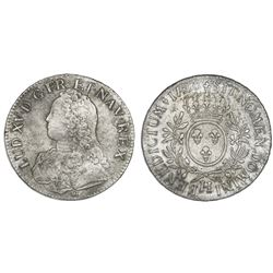 France (La Rochelle mint), ecu, Louis XV, 1726-H.