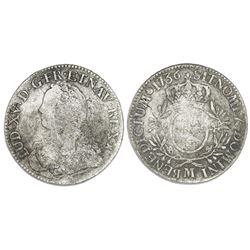 France (Toulouse mint), ecu, Louis XV (small bust), 1736-M.