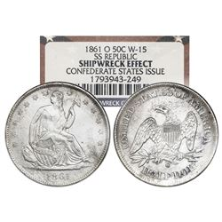 USA (New Orleans mint), Seated Liberty half dollar, 1861-O, Confederate States issue (die W-15), NGC