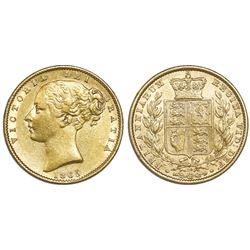 Great Britain (London, England), sovereign, Victoria (young head), 1865, die 20.