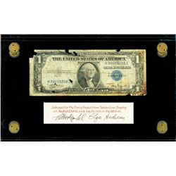 USA, $1 silver certificate, series 1935A, serial H36409238C, Julian-Morgenthau, salvaged from the An