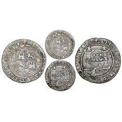 "Mexico City, Mexico, 3 reales, Charles-Joanna, ""Early Series,"" assayer R (Gothic) at bottom between"