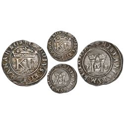 Mexico City, Mexico, 1/2 real, Charles-Joanna,  Late Series,  assayer L to right, o to left, mintmar