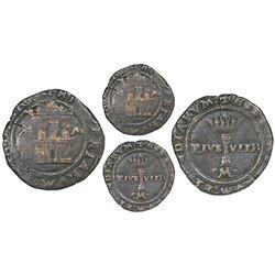 "Mexico City, Mexico, copper 2 maravedis, Charles-Joanna, ""Late Series,"" no assayer (assayer-G period"