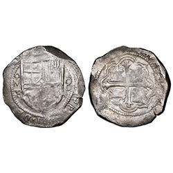 Mexico City, Mexico, cob 8 reales, Philip III, assayer F, NGC VF 25.