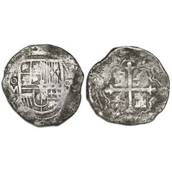 Mexico City, Mexico, cob 8 reales, Philip III, assayer D/F (1618).