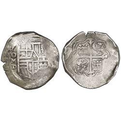 Mexico City, Mexico, cob 8 reales, 1624D.
