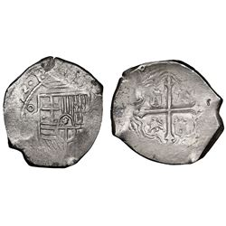 Mexico City, Mexico, cob 8 reales, 1652/49P, NGC VF 35.