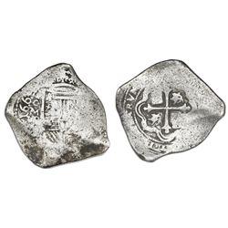 Mexico City, Mexico, cob 8 reales, 1662P.