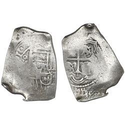 Mexico City, Mexico, cob 8 reales, (16)91(L), very rare.