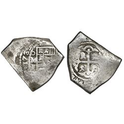 Mexico City, Mexico, cob 8 reales, 1731F.