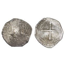Mexico City, Mexico, cob 4 reales, 1652/1P, NGC XF 40.