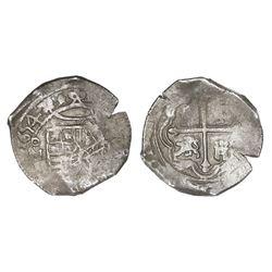 Mexico City, Mexico, cob 4 reales, 1654P, NGC AU 50.