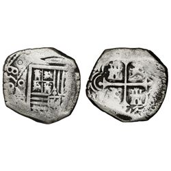 Mexico City, Mexico, cob 4 reales, 1658(P).