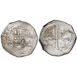 Mexico City, Mexico, cob 2 reales, 1650P, rare, NGC VF 35.
