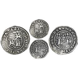 Lima, Peru, 4 reales, Philip II, assayer R to left, motto PL-VSV-L, legends HISPA / NIARVM.