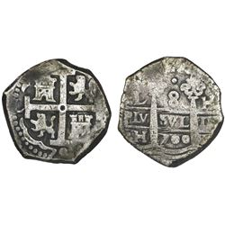 Lima, Peru, cob 8 reales, 1700H.