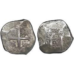 Lima, Peru, cob 8 reales, 1739V.
