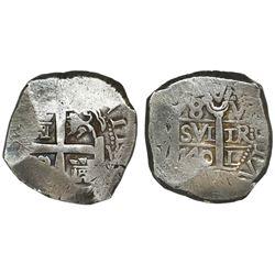 Lima, Peru, cob 8 reales, 1740V.