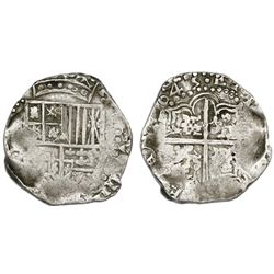Potosi, Bolivia, cob 8 reales, (1)645, assayer not visible.