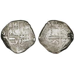 Potosi, Bolivia, cob 2 reales, (1)639TR, very rare.