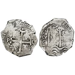 Potosi, Bolivia, cob 8 reales, 1679C, NGC VF 20.