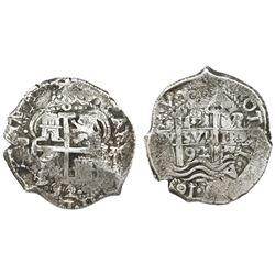 Potosi, Bolivia, cob 8 reales, 1692VR.