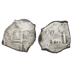 Potosi, Bolivia, cob 8 reales, 1710Y, rare.