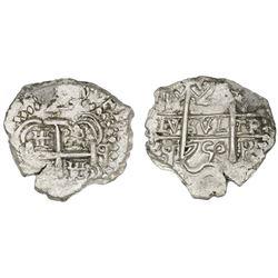 Potosi, Bolivia, cob 2 reales, 1750q.