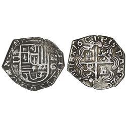 Granada, Spain, cob 2 reales, 1601M.