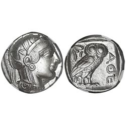 "Attica, Athens, AR tetradrachm ""owl,"" 454-404 BC, NGC Ch AU, strike 5/5, surface 4/5."