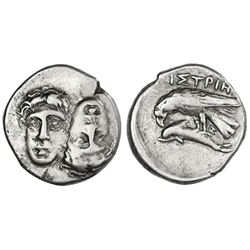 Moesia, Istros, AR stater, ca. 400 BC.