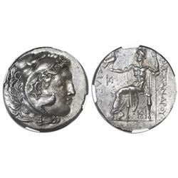 Thrace, Odessus, AR tetradrachm, posthumous issue in the name and types of Alexander III (the Great)