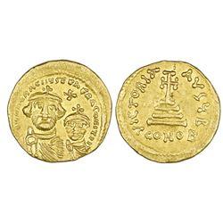 Byzantine Empire, AV solidus, Heraclius (610-641 AD), Constantinople mint.
