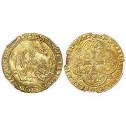 Flanders, Belgium, gold franc a cheval, Louis II de Male (1346-84), NGC MS 61.