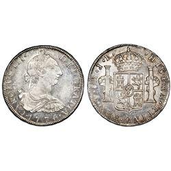 Potosi, Bolivia, bust 8 reales, Charles III, 1776JR, NGC MS 62.